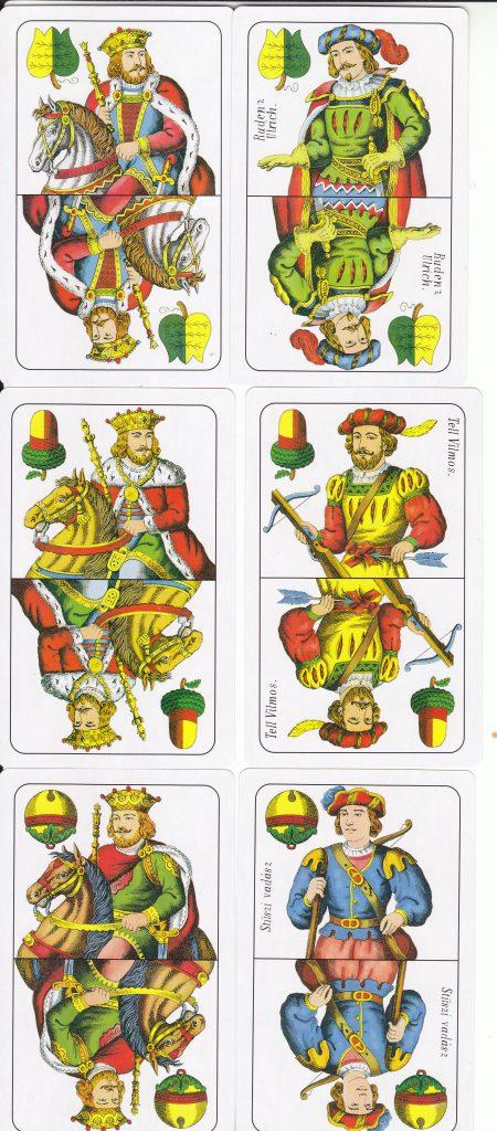 Ulti licit lapkombináció: Király, felső kombináció nem piros színben