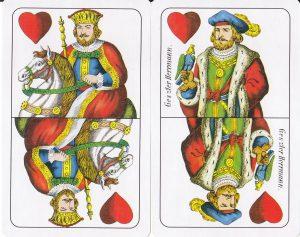 Rablóulti játék- piros király és felső, jelentés piros színben