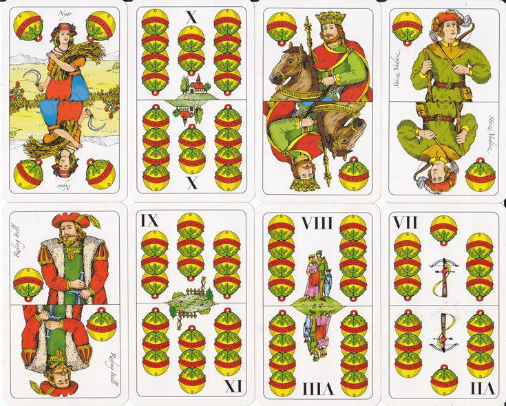 Ulti bemondások lapkombináció: A kártyák erő-sorrendje ász, tízes, király,..
