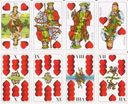 Ulti játék: piros színű lapok